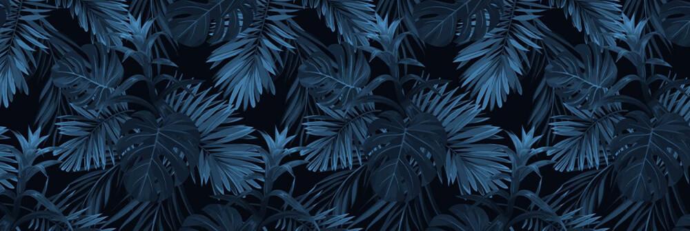 Blå tapeter