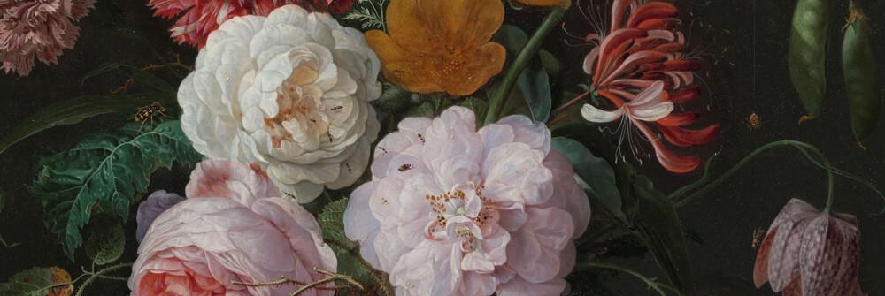 Fototapet med blommor