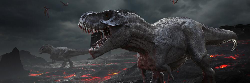 Tapet med dinosaurier