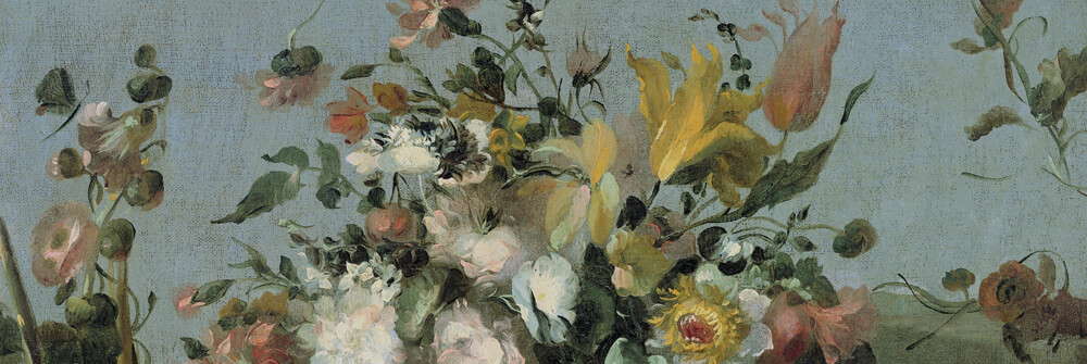 Stilleben och blomtapeter