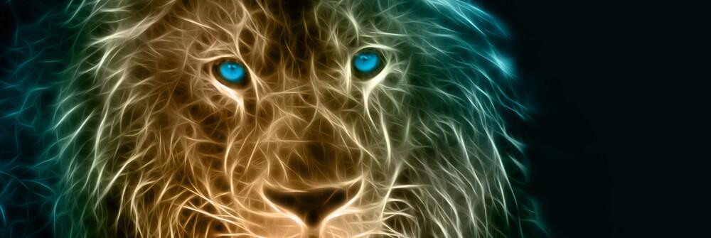 Tapet med tigrar och lejon