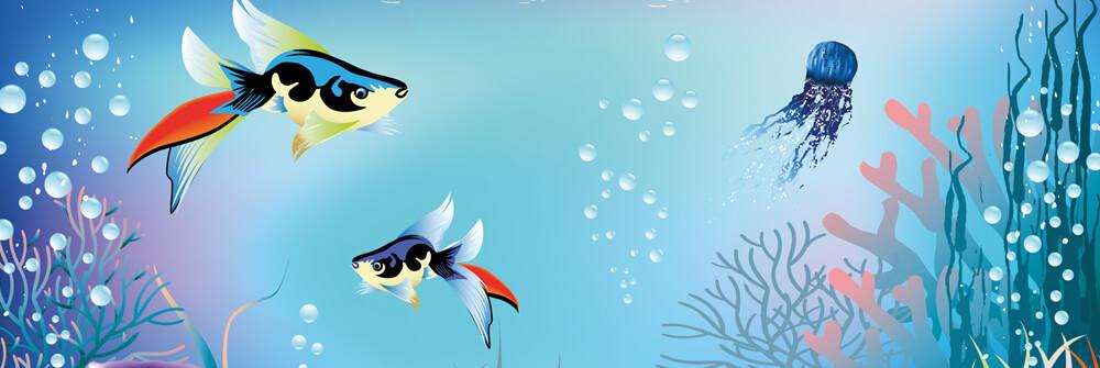 Tapet  med fisk