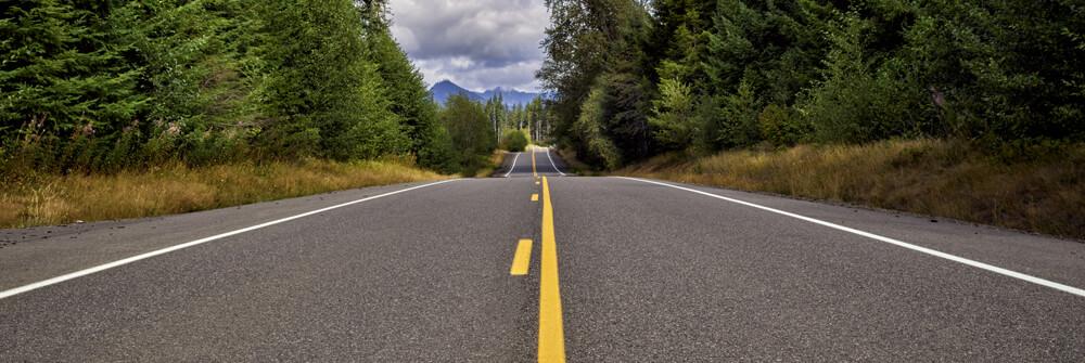 Fototapet med vägar och gator