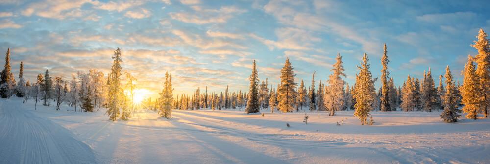 Vinterlandskap fototapeter