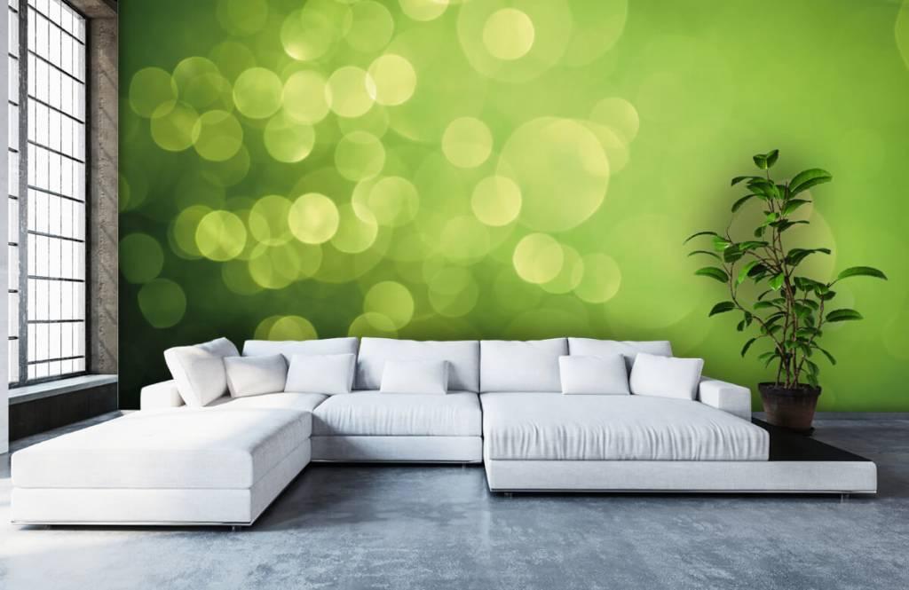 Abstrakt tapet Abstrakta gröna cirklar 5