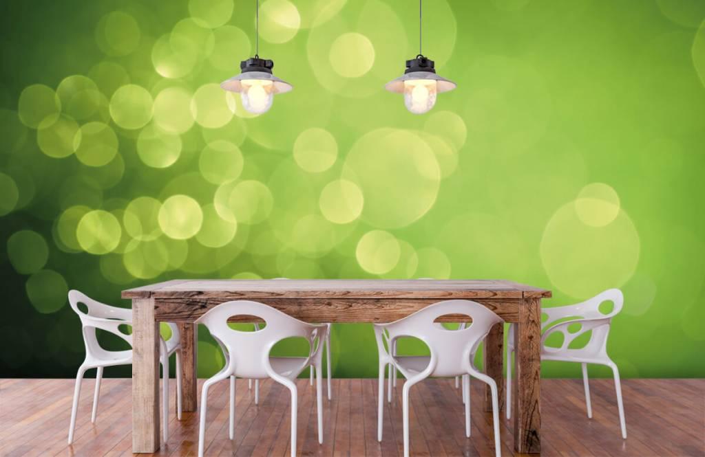 Abstrakt tapet Abstrakta gröna cirklar 6