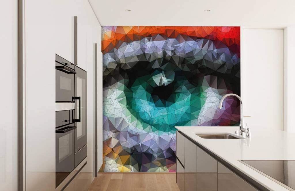 Ansikten och porträtt Abstrakt öga 3