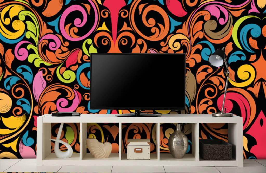Abstrakt tapet Abstrakta färgade figurer 5