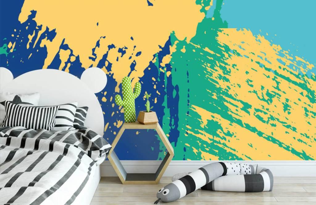 Abstrakt tapet Abstrakta ytor i färg 2