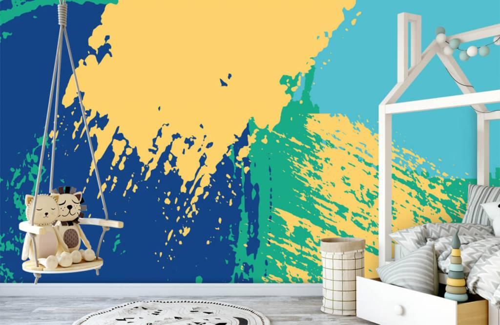 Abstrakt tapet Abstrakta ytor i färg 3