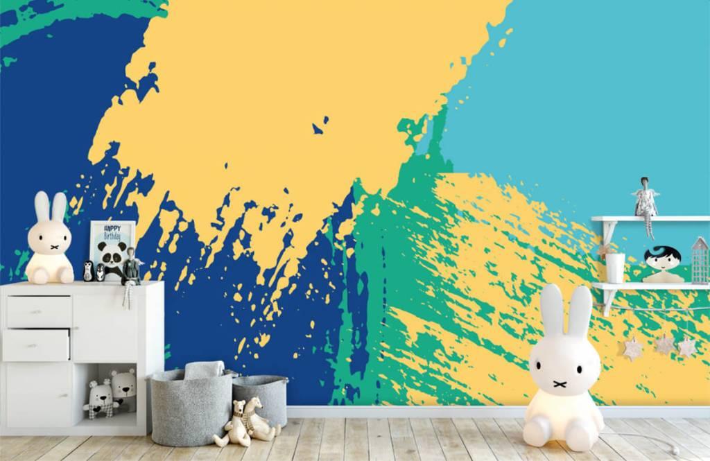 Abstrakt tapet Abstrakta ytor i färg 4