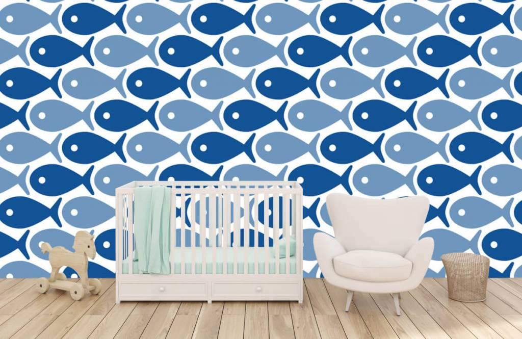 Havsdjur Blå fisk 1