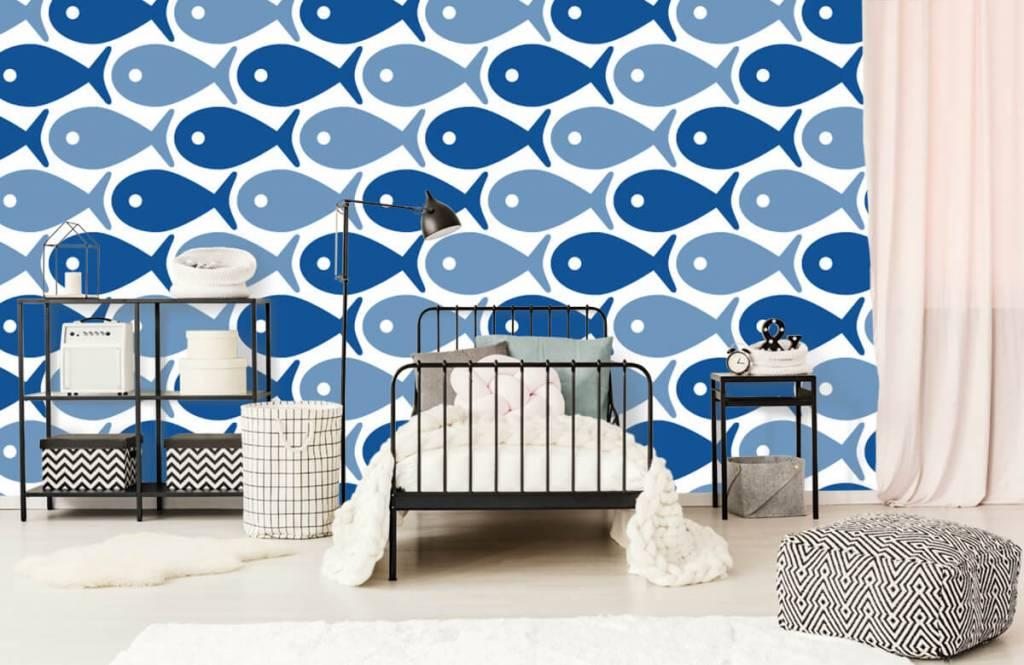 Havsdjur Blå fisk 2