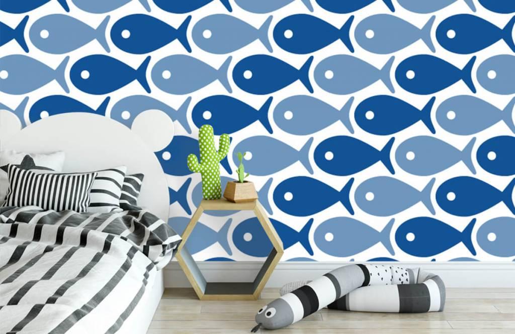 Havsdjur Blå fisk 3