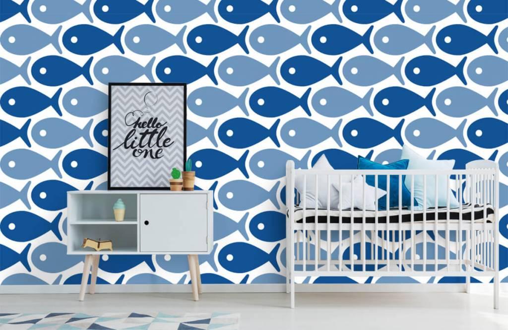 Havsdjur Blå fisk 6