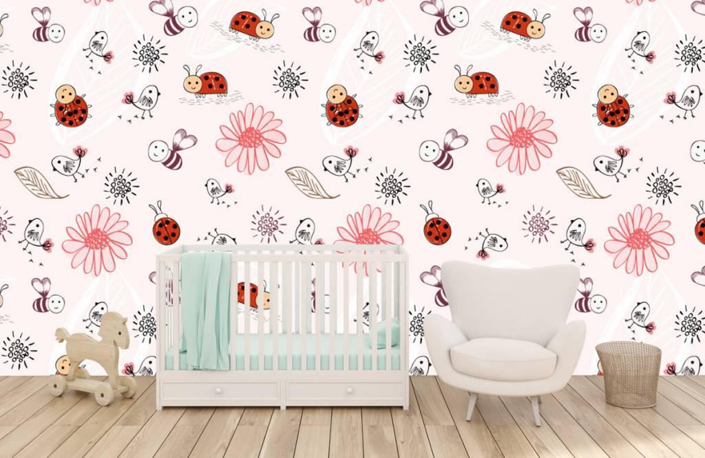 Baby tapeter Blommor och bin 6