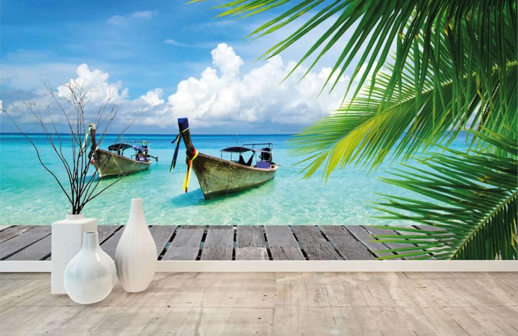 Palmer Båt och en palm 1