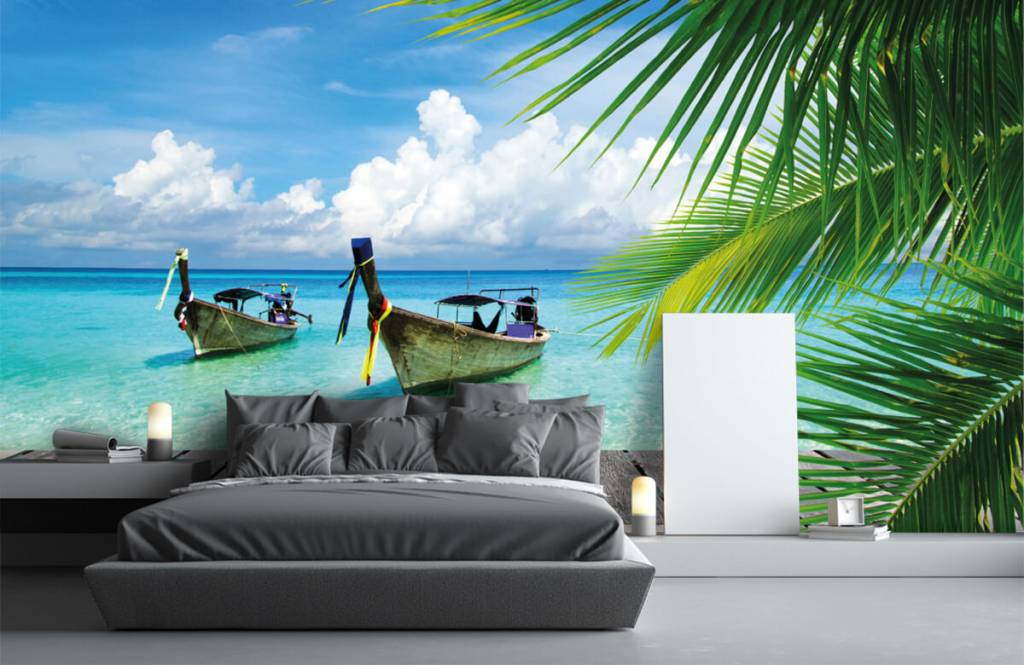 Palmer Båt och en palm 3