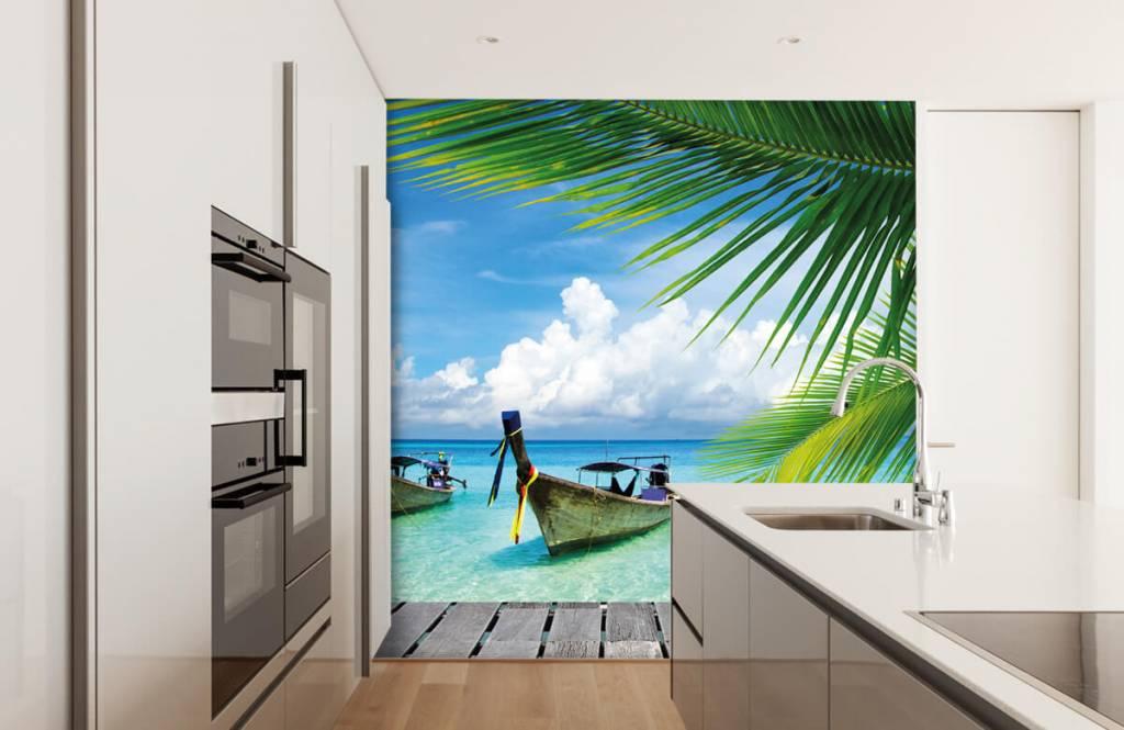 Palmer Båt och en palm 4
