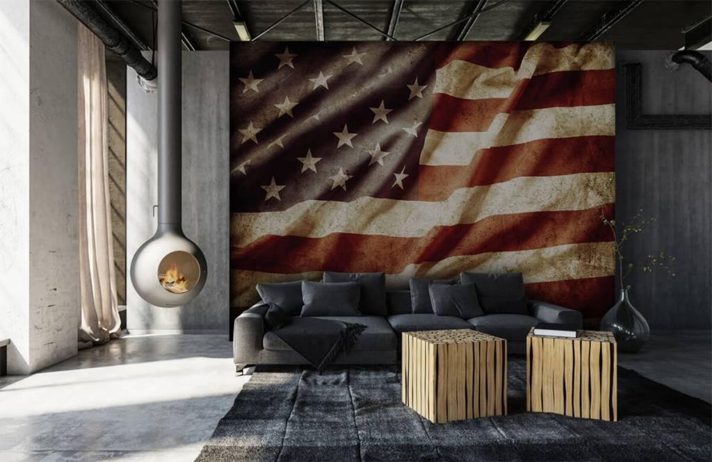 Pojke tapet amerikanska flaggan 1