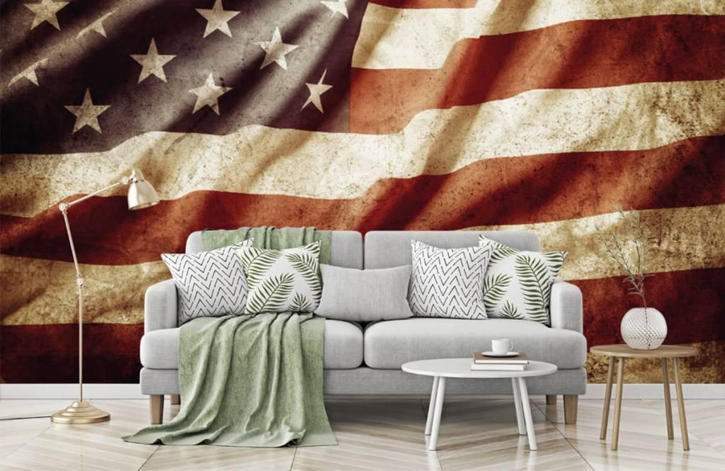 Pojke tapet amerikanska flaggan 2