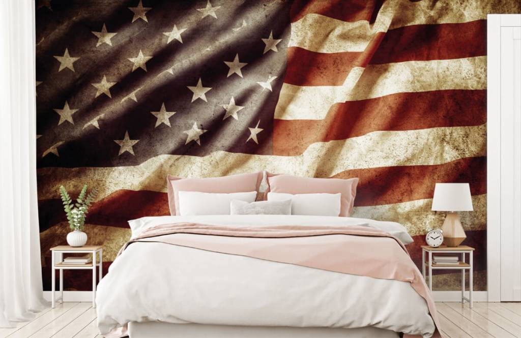 Pojke tapet amerikanska flaggan 3