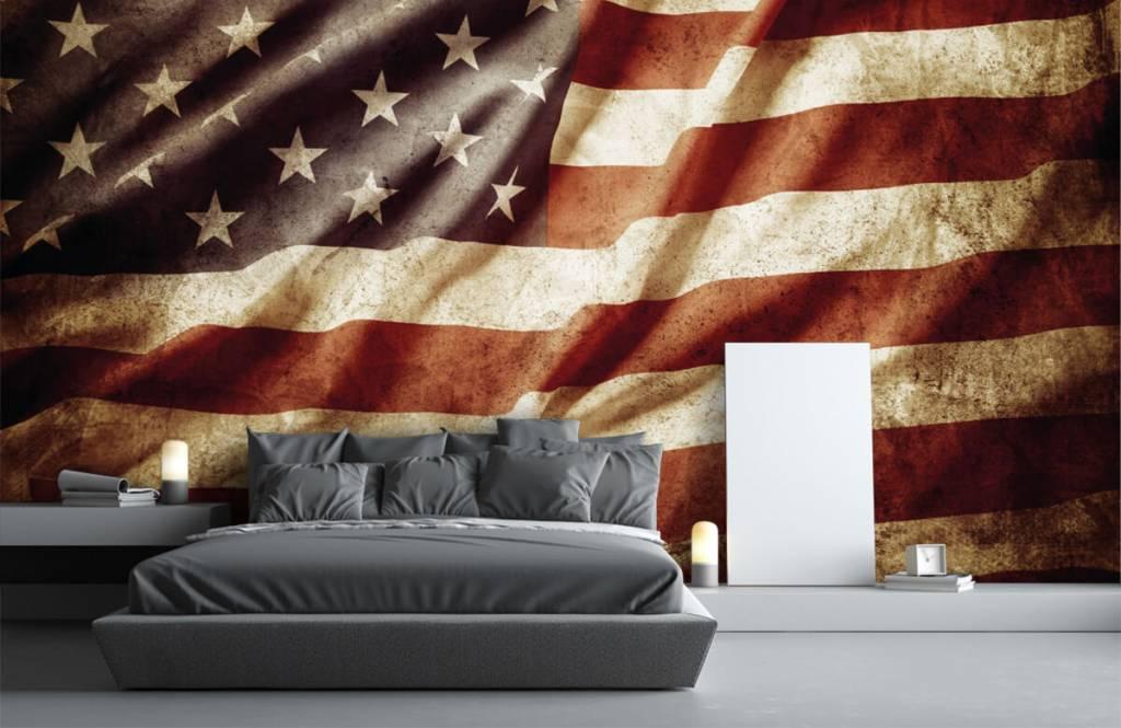 Pojke tapet amerikanska flaggan 4