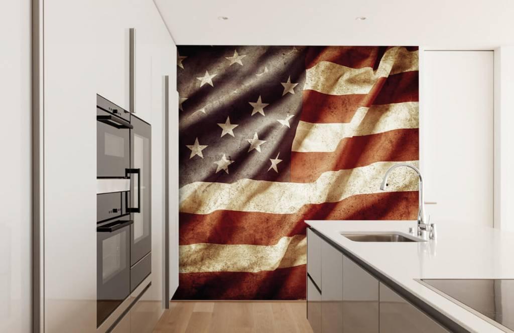 Pojke tapet amerikanska flaggan 5