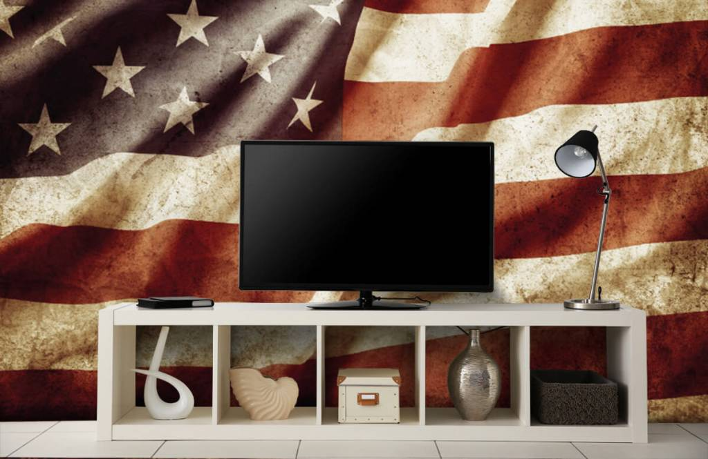 Pojke tapet amerikanska flaggan 6