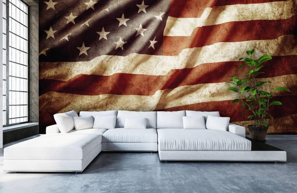 Pojke tapet amerikanska flaggan 7