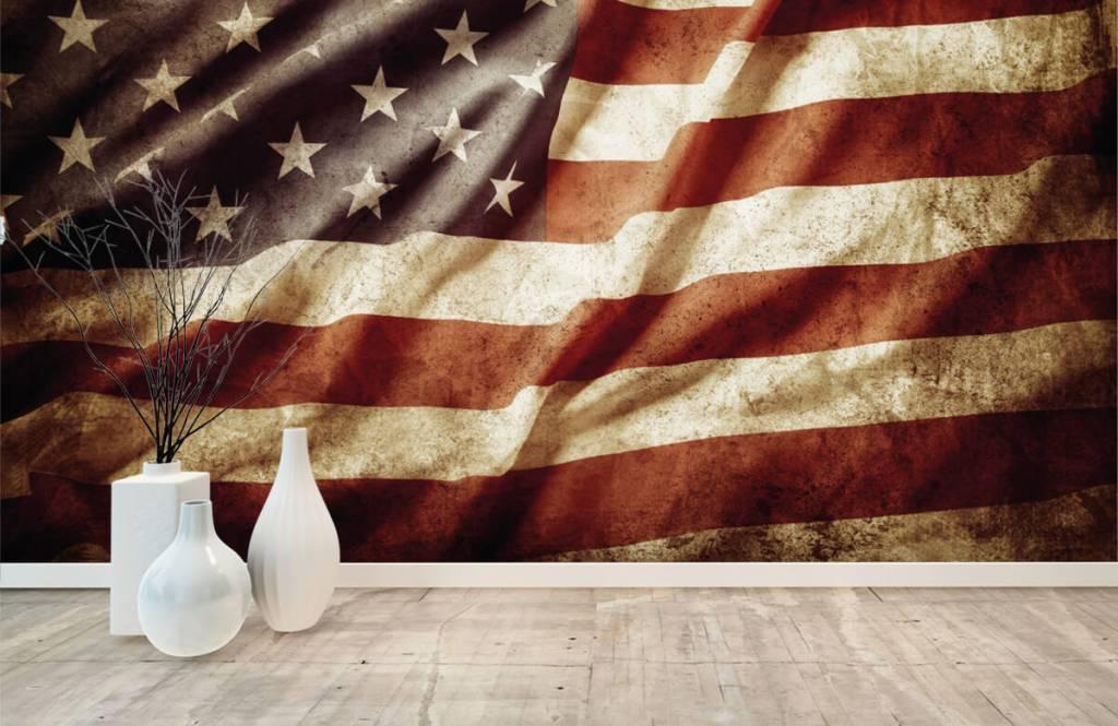 Pojke tapet amerikanska flaggan 8
