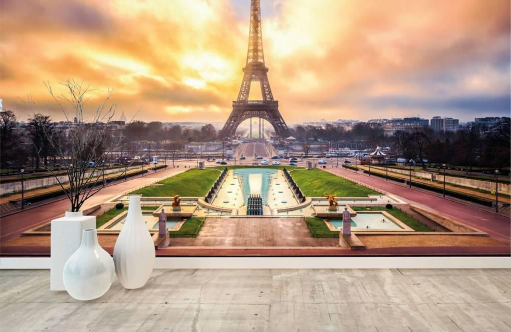 Städer tapet Eiffeltornet 1