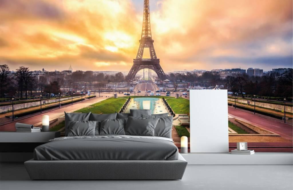 Städer tapet Eiffeltornet 3