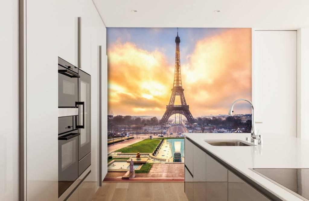 Städer tapet Eiffeltornet 4