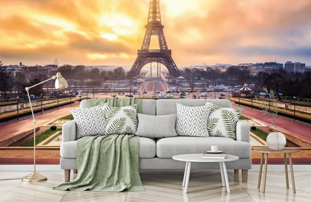 Städer tapet Eiffeltornet 8