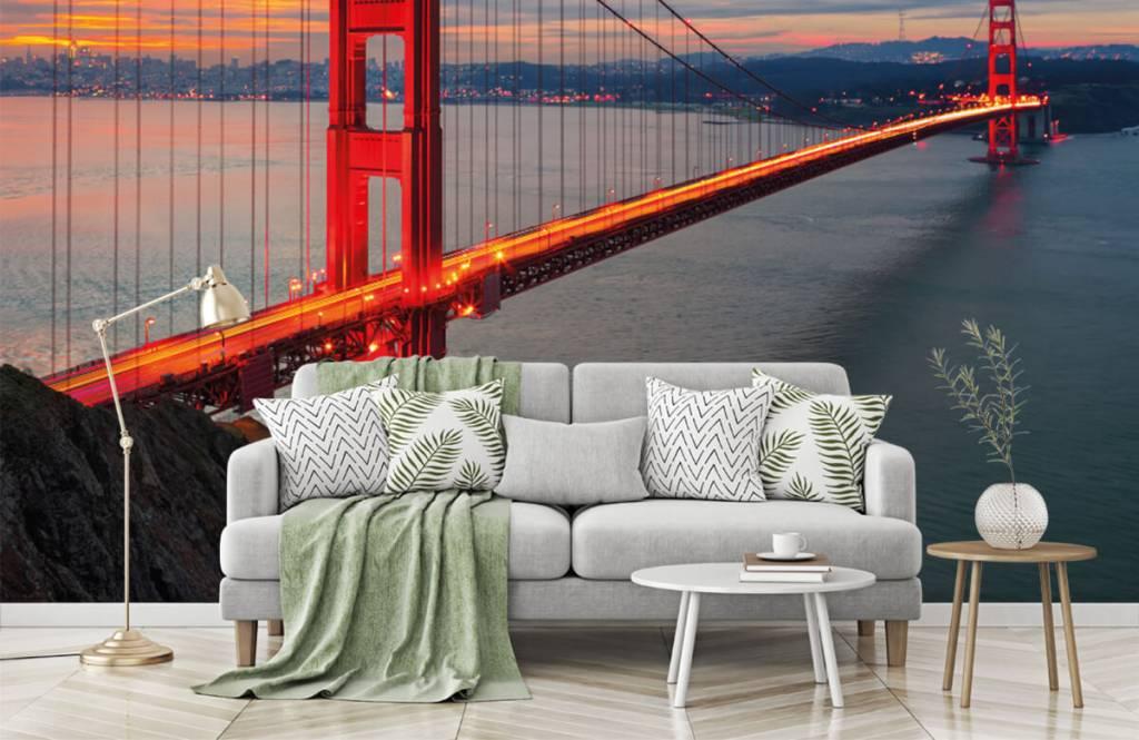 Städer tapet Golden Gate-bron 1