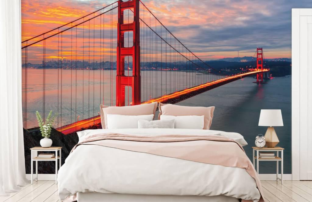 Städer tapet Golden Gate-bron 2