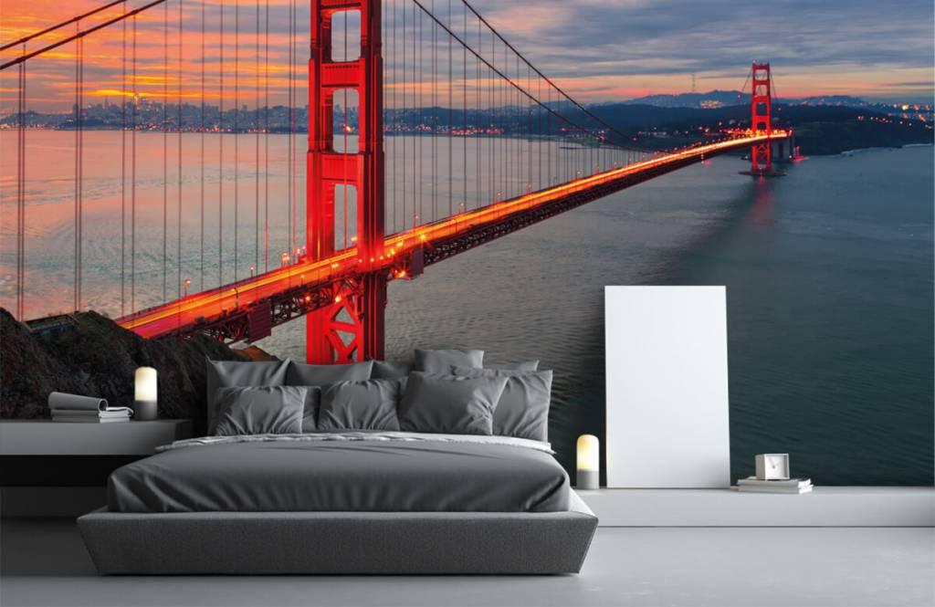 Städer tapet Golden Gate-bron 3