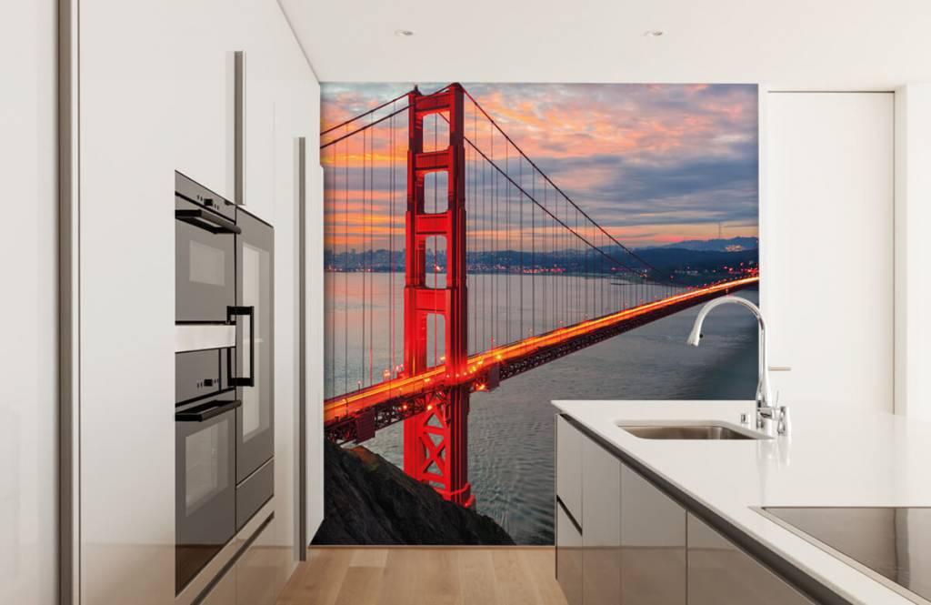 Städer tapet Golden Gate-bron 4