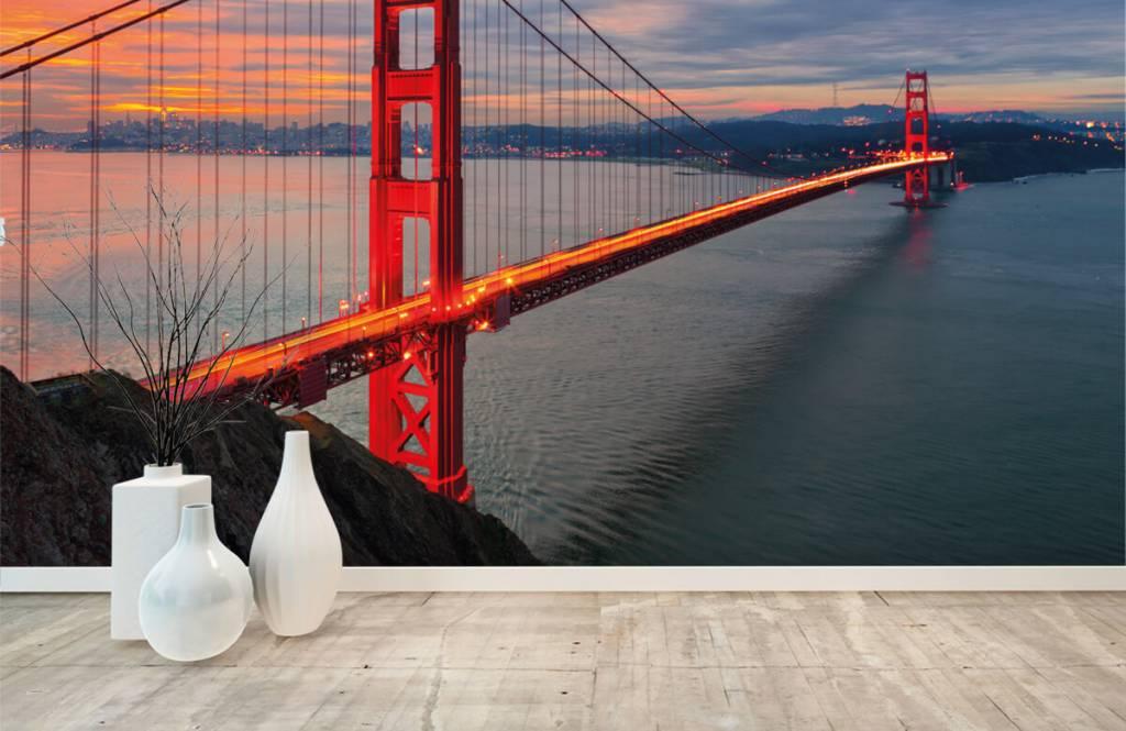 Städer tapet Golden Gate-bron 8