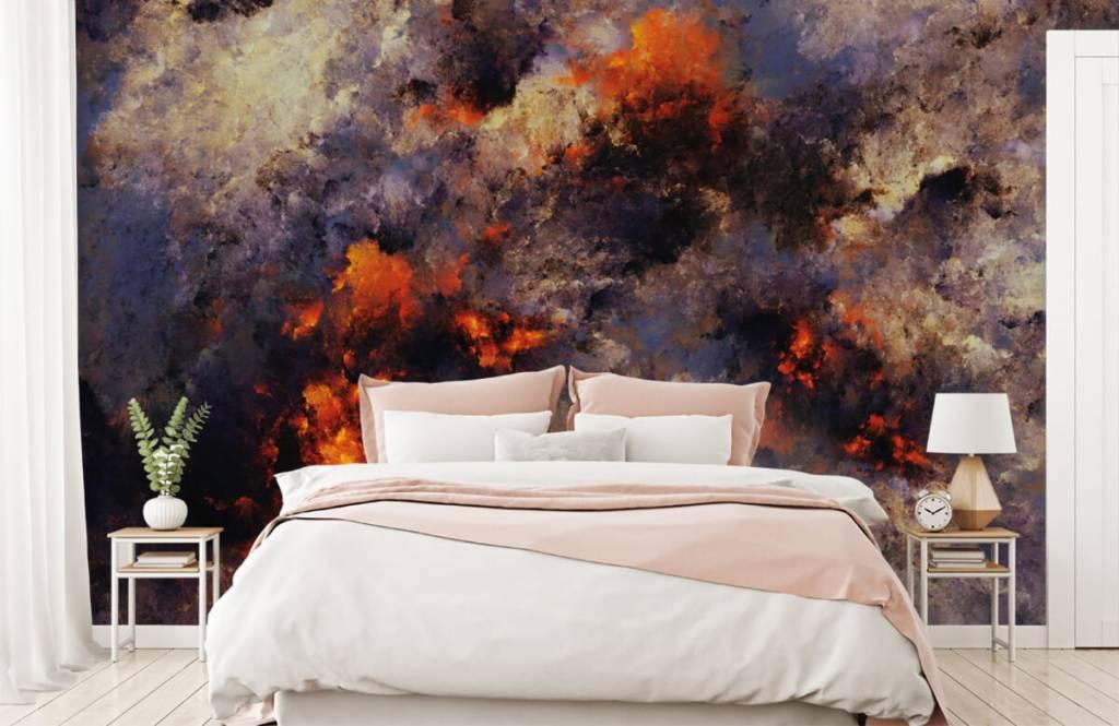 Abstrakt tapet Mörka abstrakta rökmoln 2