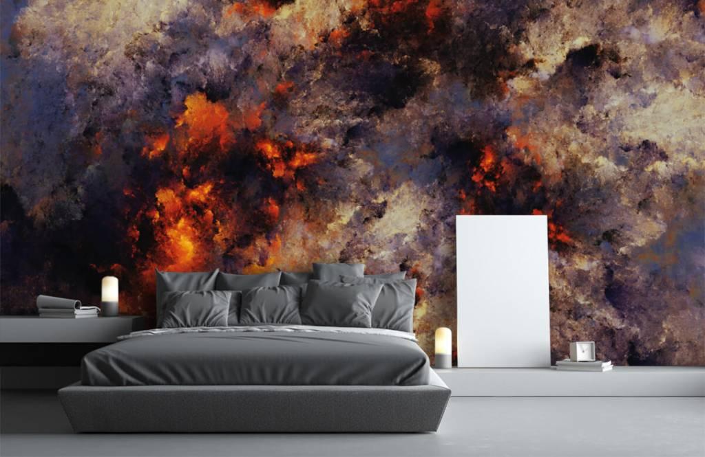 Abstrakt tapet Mörka abstrakta rökmoln 3