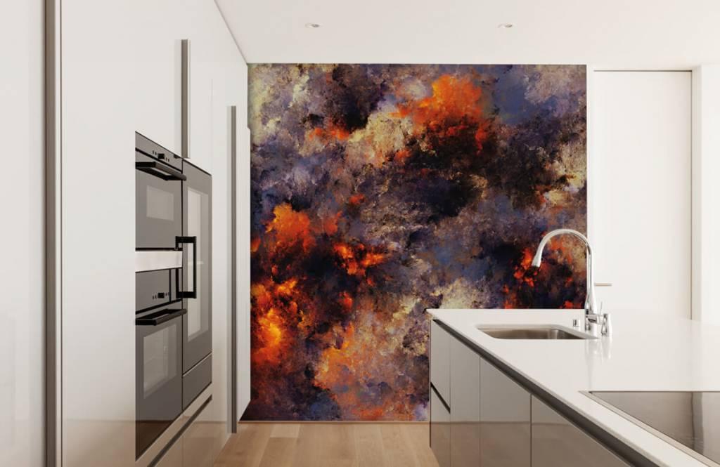 Abstrakt tapet Mörka abstrakta rökmoln 4