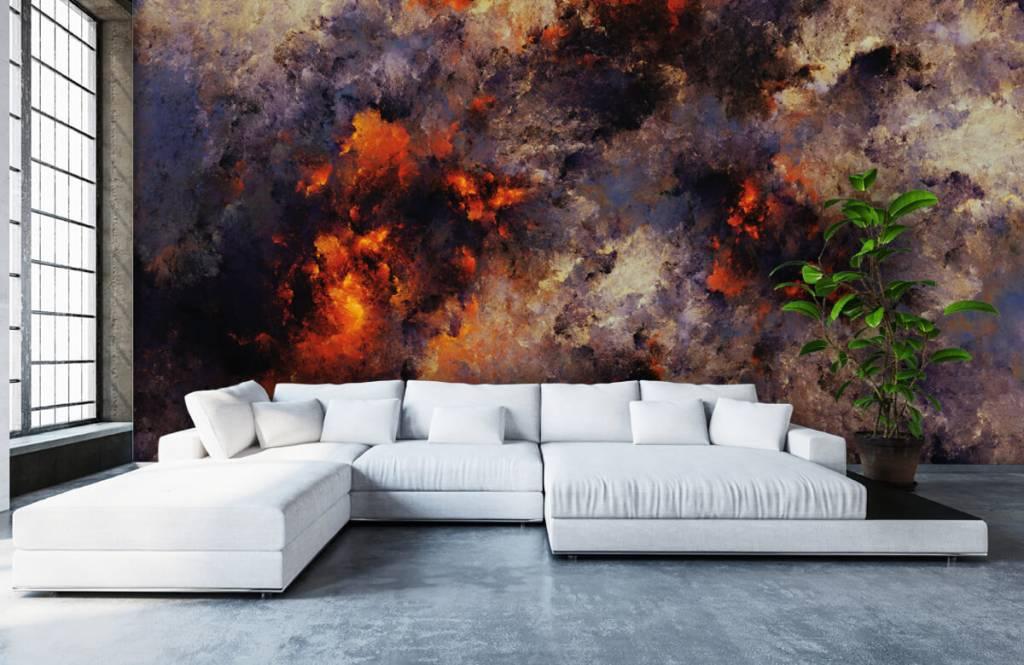 Abstrakt tapet Mörka abstrakta rökmoln 5