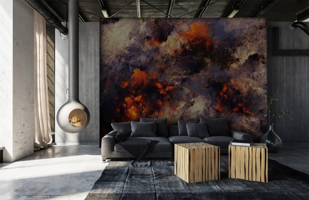 Abstrakt tapet Mörka abstrakta rökmoln 6