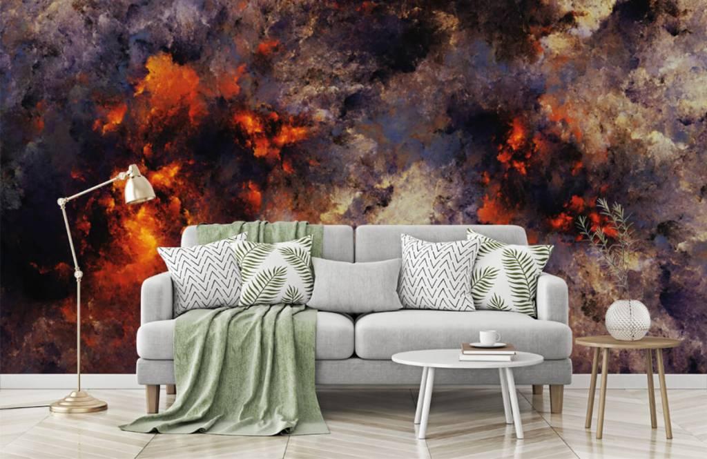 Abstrakt tapet Mörka abstrakta rökmoln 7