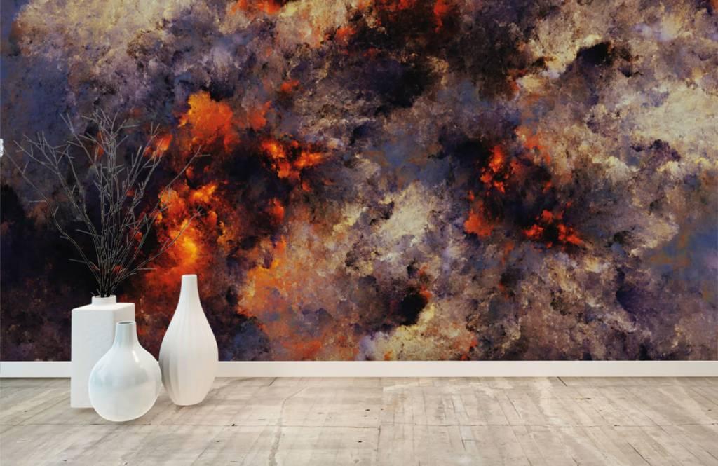 Abstrakt tapet Mörka abstrakta rökmoln 8