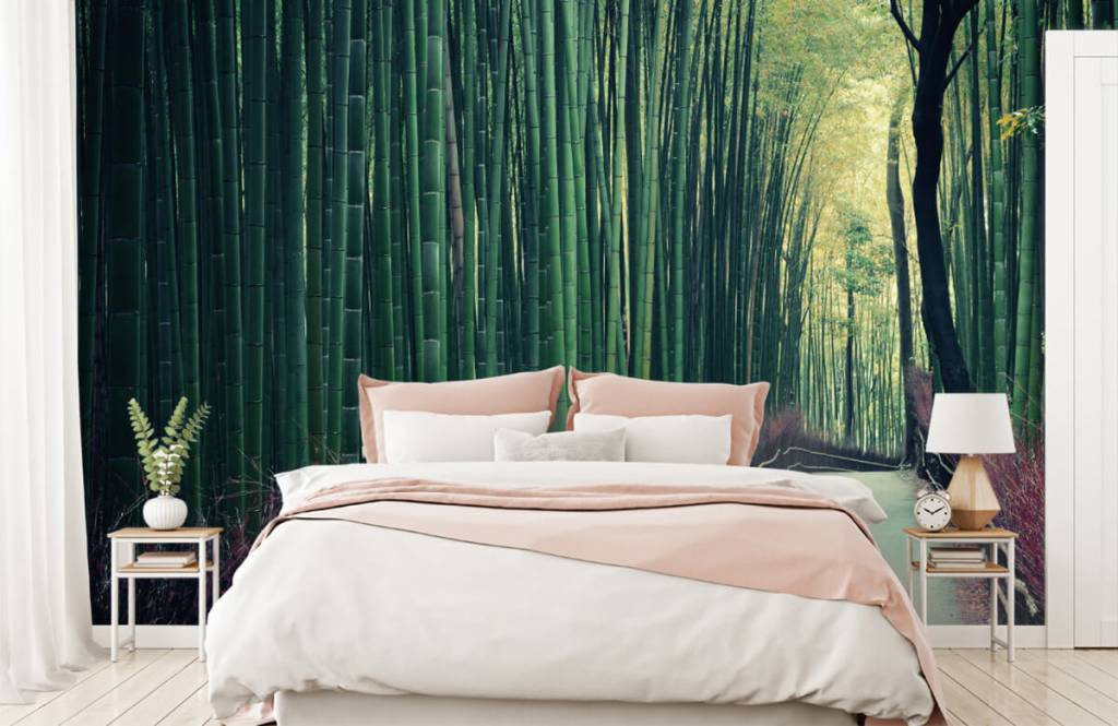 Skog tapet Bambuskog 1