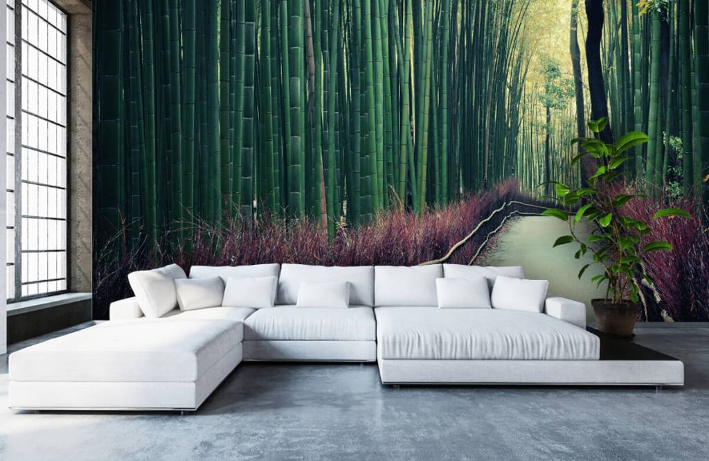 Skog tapet Bambuskog 5