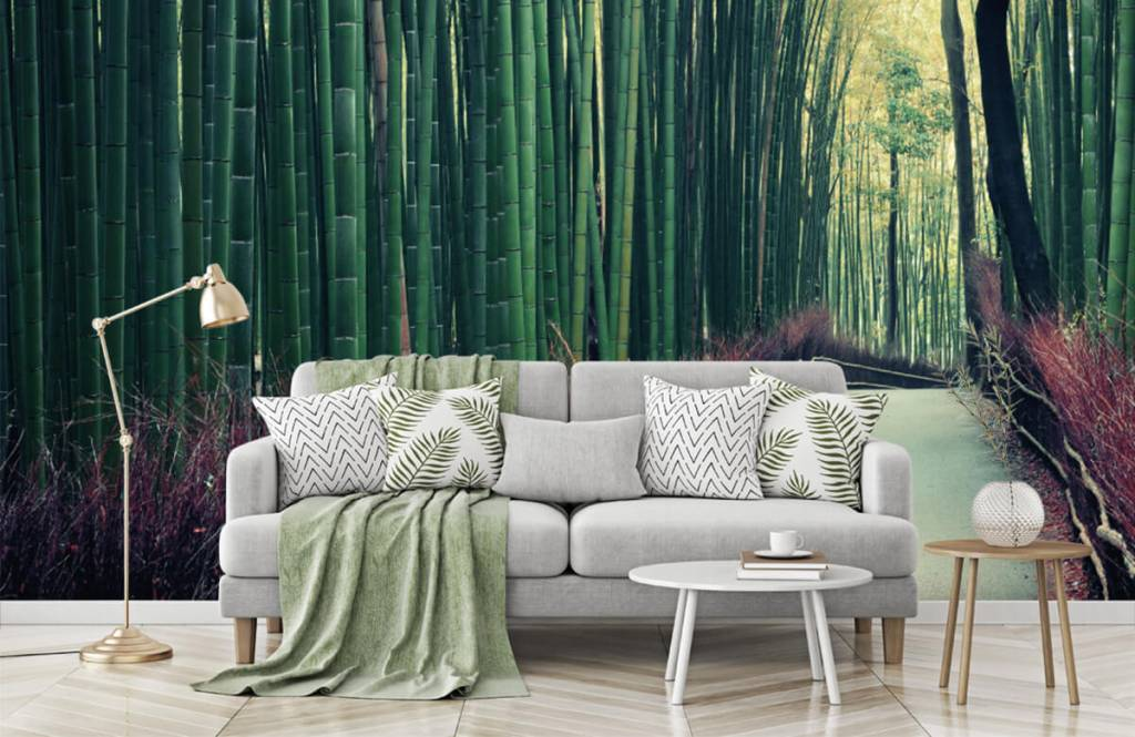 Skog tapet Bambuskog 7